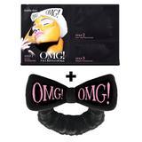 Kit Máscaras 3 em 1 Peel Off OMG Double Dare + Faixa preta