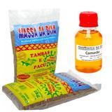 kit massa salsicha pacu e tamba 1kg + essencia camarão 100ml - Massa da boa