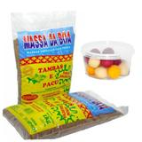 kit massa salsicha pacu e tamba 1kg + isca tambolinha mista - Massa da boa
