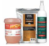 Kit Massagem Fluido TermoAtivo, Esfoliante Forte e Argila Preta Dagua Natural - Dágua natural