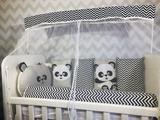 Kit Mini Berço 10 Peças Panda Baby - Bebê enxovais