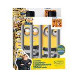 Kit minions prisioneiro - shampoo + cond 250ml + adesivos - Biotropic