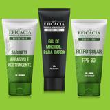 kit minoxidil para a barba + protetor solar + sabonete adstringente - Farmácia eficácia