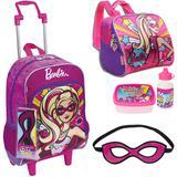 Kit Mochila Barbie Power Super Princesas , Lancheira Sestini