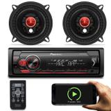 "Kit MP3 Player Pioneer MVH-S118UI Interface Android iOS Spotify + Alto Falante Bomber 5"" 100W RMS - Prime"