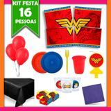 Kit Mulher Maravilha 16 Pessoas - Festabox