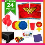 Kit Mulher Maravilha 24 Pessoas - Festabox