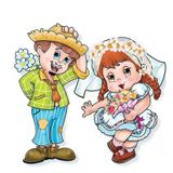 Kit Noivo e Noiva Festa Junina 2 unidades Festança