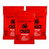 Kit Olla Preservativo Sabor Morango 3uni. Com 3 Packs