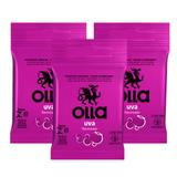 Kit Olla Preservativo Sabor Uva 3uni. Com 3 Packs