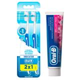 Kit Oral-B 2 Escovas Indicator Plus 40 + Creme Dental 3D White Brilliant Fresh 70g - ORAL B