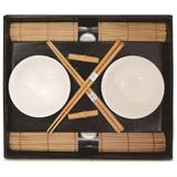 Kit Oriental Sushi 8 Peças Hashi Bowl Esteira Suporte Kyoto Yoi