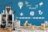 Kit Painel de Parede Brinquedos em MDF Branco - 09 - Madre decor