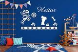 Kit Painel de Parede Brinquedos em MDF Branco - 12 - Madre decor
