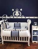 Kit Painel de Parede MDF Completo Urso Príncipe Coração Decoração Quarto do Bebê - Fabricação própria