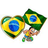 Kit Painel Decorativo Coração e Menino Brasil Festança - Festabox