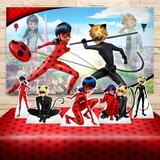 Kit Painel display Festa Infantil Miraculous Ladybug - Decorasonho