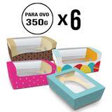 Kit Páscoa Com 24 Embalagens/Caixas Com 4 Estampas Ovo 350g - Cromus