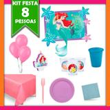 Kit Pequena Sereia 08 Pessoas - Festabox