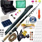 Kit Pesca Pescaria Completa Vara 3,50 Molinete Maleta Itens - Xingu Marine Sports