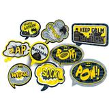 Kit Placas Decorativas Batman Geek 09 unidades Festcolor - Festabox