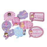 Kit Placas Decorativas Circo Rosa 09 unidades Festcolor - Festabox