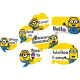 Kit Placas Decorativas Festa New Minions 09 unidades Festcolor - Festabox