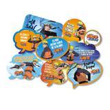Kit Placas Decorativas Naruto 09 unidades Festcolor - Festabox