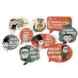 Kit Placas Decorativas Os Monstrinhos 09 unidades Festcolor - Festabox