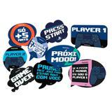 Kit Placas Decorativas PlayStation 09 unidades Festcolor - Festabox