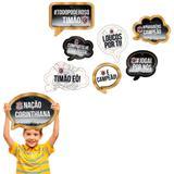 Kit Plaquinhas Decorativas Corinthians 09 unidades Festcolor - Festabox