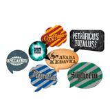 Kit Plaquinhas Decorativas Harry Potter 09 unidades Festcolor - Festabox