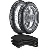 Kit Pneu Bros 150 Xre 190 Crosser 150 110/90-17 + 90/90-19 Tr300 Vipal