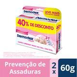Kit Pomada Prevenção de Assaduras Dermodex Prevent 60g 2 Unidades