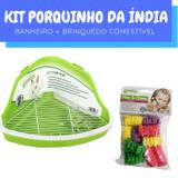 Kit Porquinho da Índia com Bebedouro e Banheiro Pawise