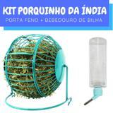 Kit Porquinho da Índia com Bebedouro e Porta Feno Pawise