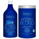 Kit Power Blond Forever Liss Água Oxigenada 35 Volumes 900ml e Pó Descolorante 450g