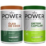 Kit Power Detox + Óleo de Coco 2 Potes Nutri e Hidrata - Nazca