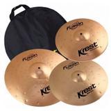 Kit Pratos Krest Fusion 14 16 20 Bronze B8 C/ Bag Fset2