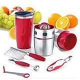 Kit processador de sucos e shake com espremedor descascador amassador e fatiador de frutas e verdura - Gimp