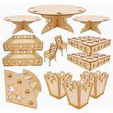 Kit Provençal Estrela 13 peças com cadeirinhas - Fabrika de festa