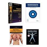 Kit Radiologia: Tomografia + Radiologia Técnicas Básicas + Mamografia Posicionamentos + Anatomia - Várias