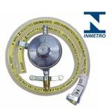 Kit Regulador Registro De Gás + Mangueira e Abraçadeiras - Lcg eletro