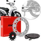 Kit Relação Transmissão Honda Biz 125 2005 A 2018 Vaz Xtreme Standard H03800XS