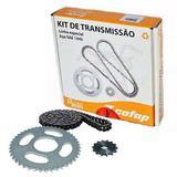 Kit Relação Transmissão Tração Ybr 125 Factor 125 Todas Cofap Aço 1045