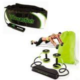 Kit Revoflex Roda Abdominal Musculação Xtreme + Vibroaction Cinta Vibratória Abdominal - Rpc