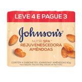 Kit Sabonete em Barra Johnsons Suavize Óleo de Amêndoas 80g 4 Unidades - Johnson's