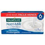 Kit Sabonete Palmolive Nutrimilk Hidratante Com Proteínas do Leite 6 Unidades