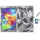 Kit Skin Galaxy Tab E - T560/T561 + Pel Vidro Camuflado Cinz - Bd cases