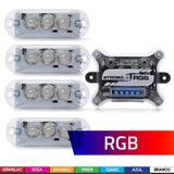 Kit Strobo Ajk Vittro Rgb 7 Cores C/ Central + 4 Faróis Leds - Ajk sound